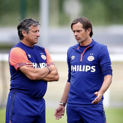 Coach Phillip Cocu of PSV (R), Assistant trainer Ruud Brood (L) during the training camp of PSV Eindhoven on July 13, 2015 at Amphion Publier, France. PSV Eindhoven Training camp 2015/2016 xVIxJeroenxPutmansxIVx PUBLICATIONxINxGERxSUIxAUTxHUNxPOLxJPNxONLY 4091314  Coach Phillip Cocu of PSV r Assistant team manager Ruud Brood l during The Training Camp of PSV Eindhoven ON July 13 2015 AT Amphion Publier France PSV Eindhoven Training Camp 2015 2016 xVIxJeroenxPutmansxIVx PUBLICATIONxINxGERxSUIxAUTxHUNxPOLxJPNxONLY